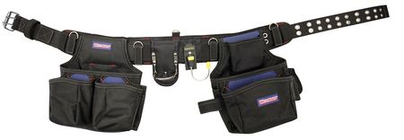"Ballistic Poly Tool Rig w/Belt,  Fits up to 52"" ,  Black/Blue"