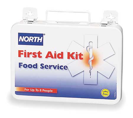 First Aid Kit, Unitized, White, 14Pcs, 8 Ppl
