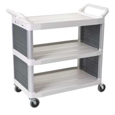 Enclosed  Cart, HDPE, Off-White, 300 lb.