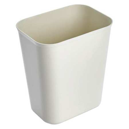 1.75 gal.  Rectangular  Beige  Trash Can
