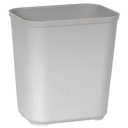 7 gal.  Rectangular  Gray  Trash Can