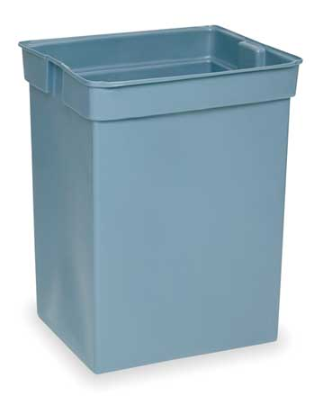 "29"" Gray Low Density Polyethylene,  Rigid Trash Can Liner"
