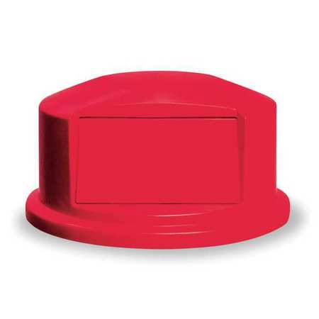 Trash Can Top, Dome, Swing Closure, Red