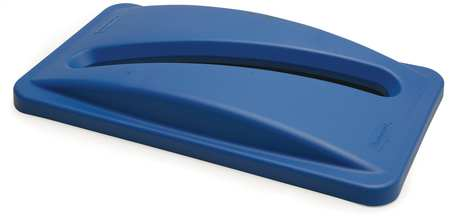 Paper Slot Recycling Top, Plastic, Blue