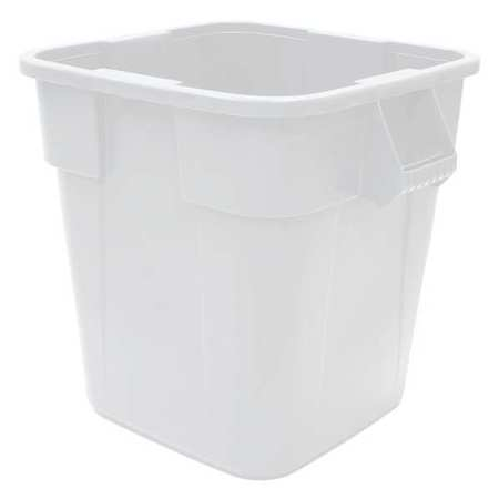 40 gal. White LLDPE Square Utility Container