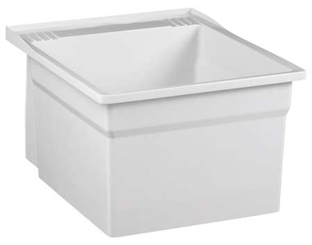 "Laundry Tub,  White,  Wall Mount  Bowl Size 20-1/8"" x 17-3/4"""