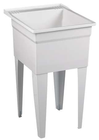 "Laundry Tub,  White,  Floor Mount  Bowl Size 20-1/8"" x 17-3/4"""