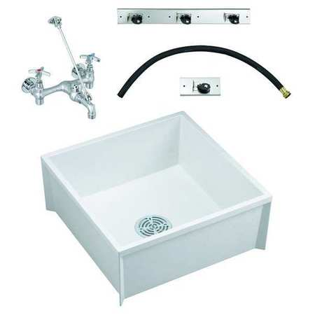 "Mop Sink Kit,  With Faucet,  Bowl Size 23-3/4"" x 23-3/4"""