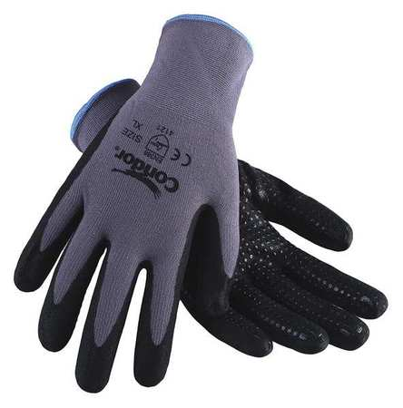 Coated Gloves, XXL, Black/Gray, PR