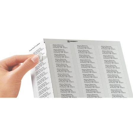 avery avery easy peel return address labels for laser printers
