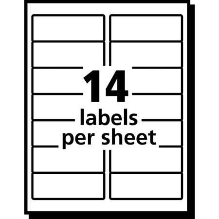 Avery Avery® Clear Easy Peel® Address Labels for Laser Printers 5662 ...