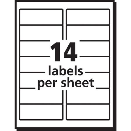 Avery avery address label for laser printers 5162 pk100 for Avery 14 labels per sheet template