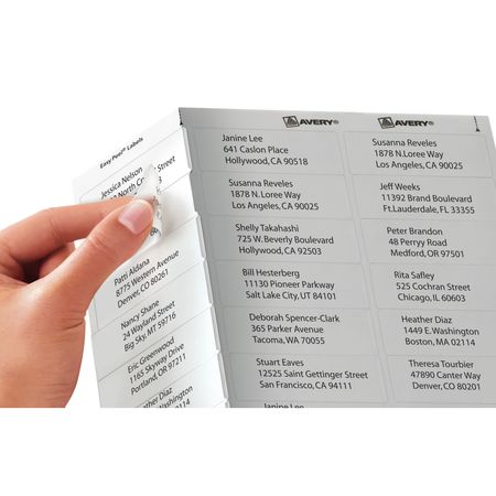 easy peel labels avery template 5160