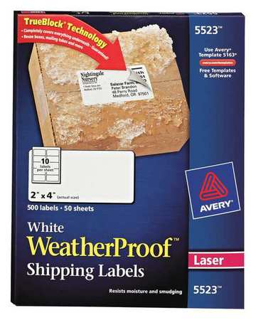 Avery  Shipping Label for Laser Printers 5523,  PK50