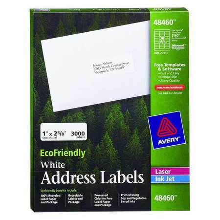 Avery EcoFriendly Address Label for  48460,  PK100