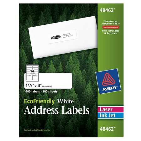 Avery Easy Peel Address Label for  48462,  PK100