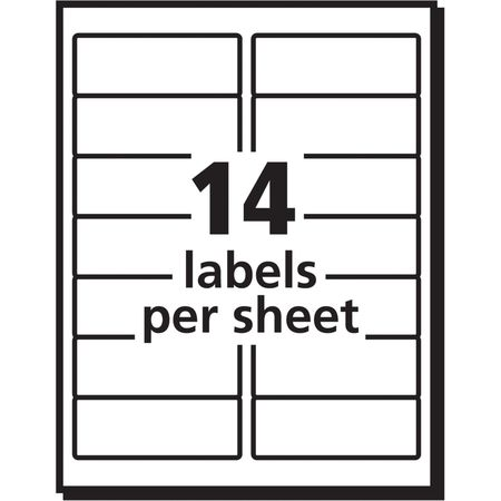 Avery Avery Easy Peel Address Label For Inkjet Printers  White
