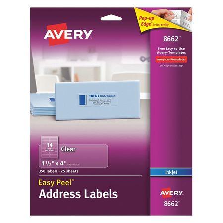 Avery Easy Peel Address Label for Inkjet Printers 8662,  PK25