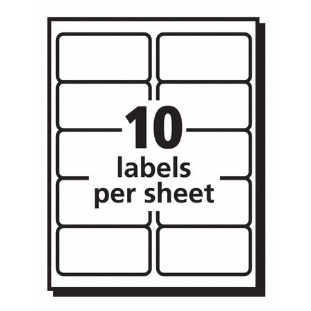avery avery ecofriendly shipping labels 48163 2 x 4 box of 1 000 48163. Black Bedroom Furniture Sets. Home Design Ideas