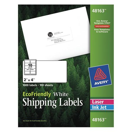Avery  Shipping Label for  48163,  PK100