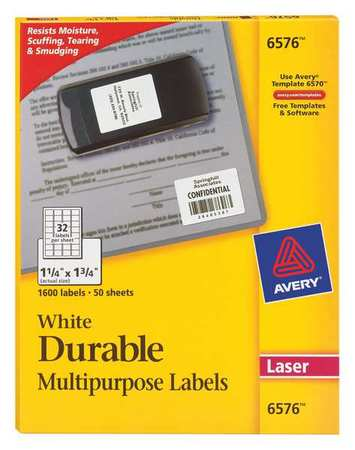 Avery  Identification Label for Laser Printers 6576,  PK50
