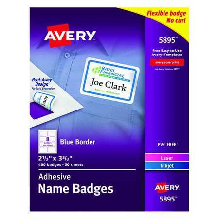 Avery  Name Badge for Laser and Inkjet Printers 5895,  PK50
