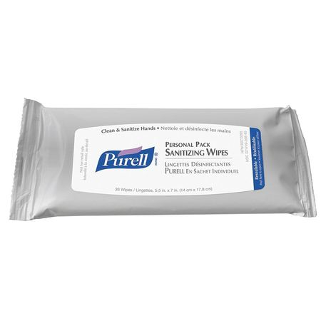 Hand Sanitizing Wipes, Clear, PK24
