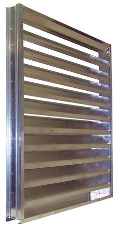 Drainable Louver, Fixed, 17-1/2 H, Alum