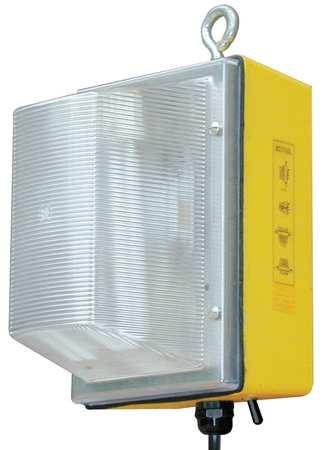 3400 Lumens,  Metal Halide Yellow Temporary Job Site Light