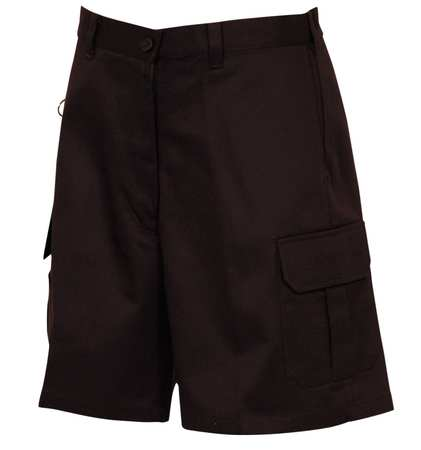Women's Cargo Shorts,  4,  Black