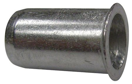 "5/16""-18,  0.030"" to 0.165"",  Zinc Steel Flush Rivet Nut,  25 pk."