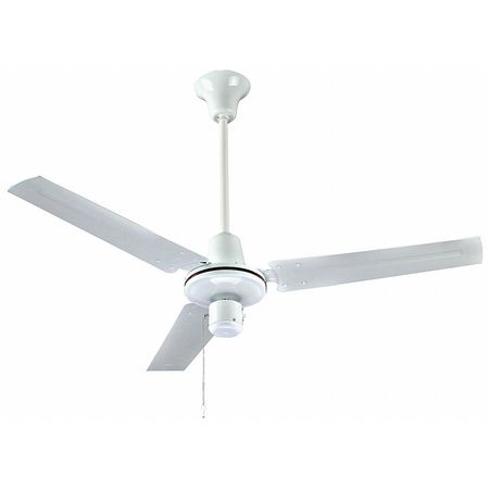 "56"" Ceiling Fan,  White,  3 Speed"