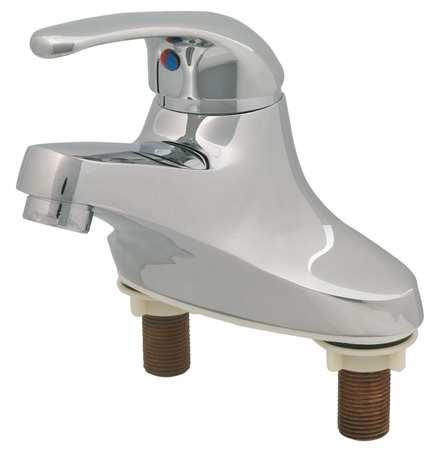 Bathroom Faucet Cast Spout,  Chrome,  2 Holes,  Lever Handle