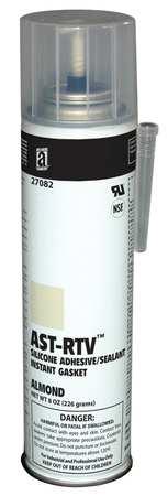 RTV Silicone Sealant, 8 oz Can, Almond