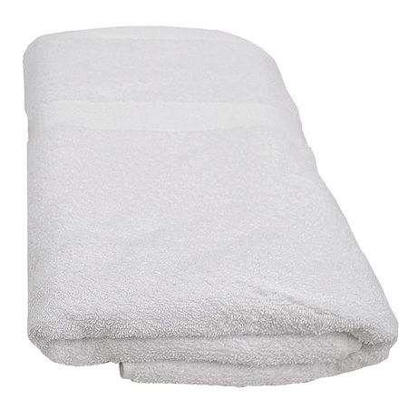 Bath Towel, 20x44 In., White, PK12
