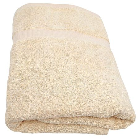 Bath Towel, 24x50 In., Beige, PK12