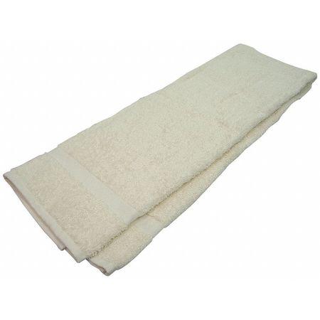 Bath Towel, 24x50 In., Beige, PK12