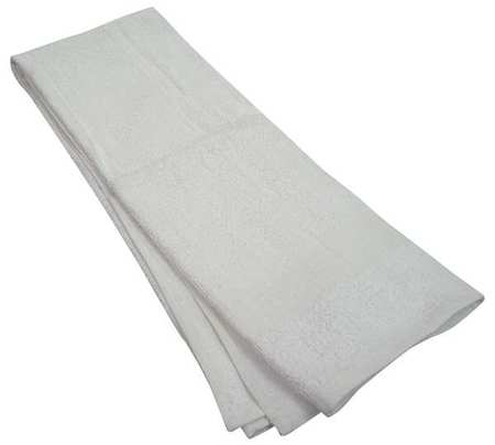 Bath Towel, 20x40 In., White, PK12