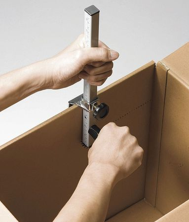 Carton Box Sizer, Silver, Steel/Plastic