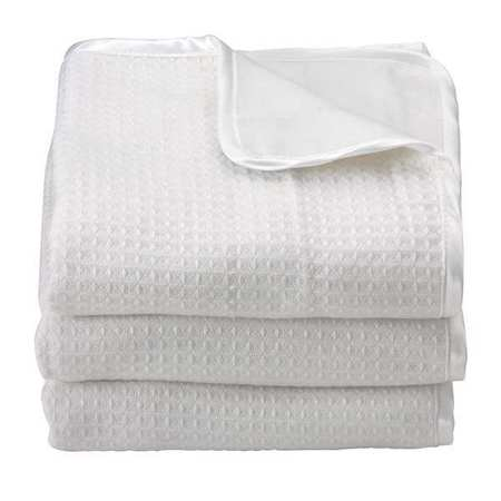Baby Blanket,  32x40 In.,  White, PK6