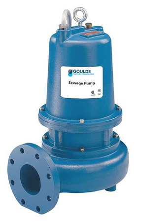"3 HP 4"" Manual Submersible Sewage Pump 230V"