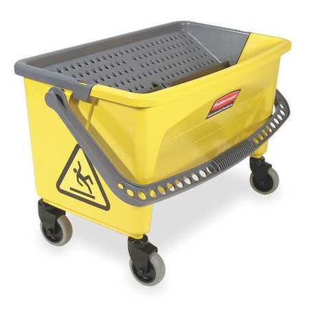 Mop Bucket and Wringer, 28 qt, Yellow/Blk