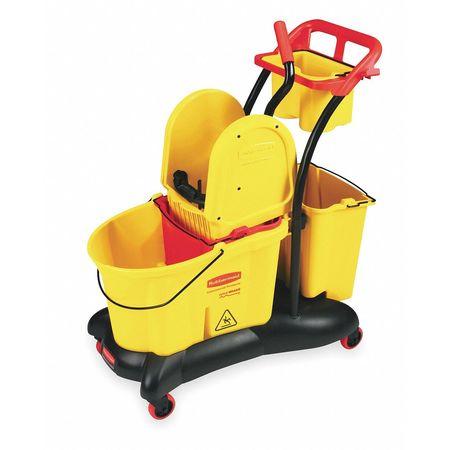 WaveBrake Mop Bucket and Wringer, 8.75 gal, Yellow