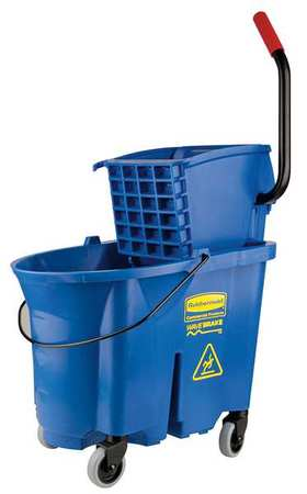 Mop Bucket and Wringer, 8.75 gal., Blue