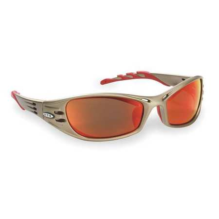 3M Red Mirror Safety Glasses,  Scratch-Resistant