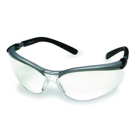 3M Clear Safety Glasses,  Anti-Fog,  Scratch-Resistant,  Half-Frame