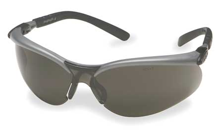 3M Gray Safety Glasses,  Anti-Fog,  Scratch-Resistant,  Half-Frame