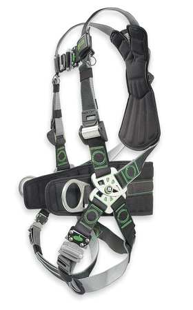 Full Body Harness, Unversal, 400lb, Blk/Gry