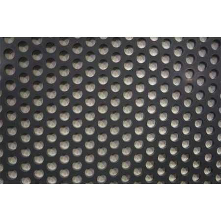 Sheet, Perf, PVC, 48x32, 0.188 T, 0.375 D, Rnd
