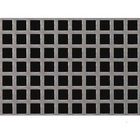 Sheet, Perf, Stl, 40x36, 18 ga, 0.500 Dia, Sq